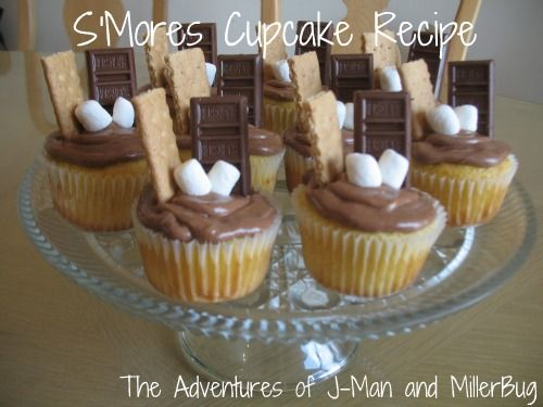 Yummy and easy S'mores cupcake recipe!  Forget the campfire and fire up the oven for this tasty treat!