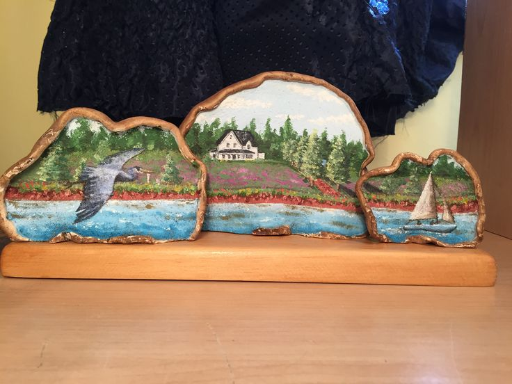 Trio of artists conk depicting my in-laws home in Stanhope PEI