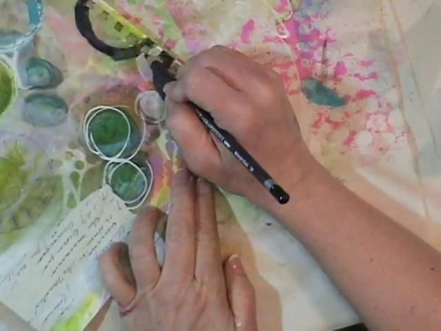 Watch the Process - Day 13 Art Journal Page. Watch the process while I create an art journal page.