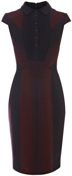 KAREN MILLEN ENGLAND Graphic Stripe Suit Dress - Lyst