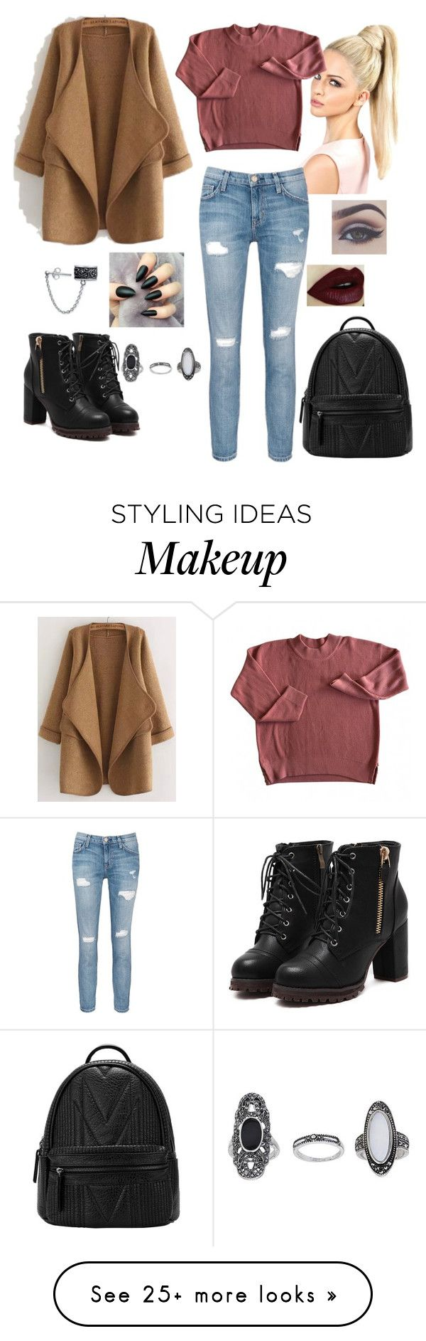 """""""Untitled #416"""" by jojomix on Polyvore featuring WithChic, Current/Elliott, Bling Jewelry and Topshop"""