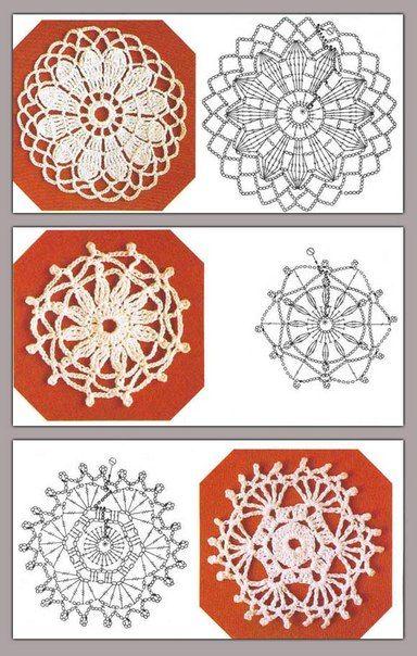 Delicadezas en crochet Gabriela: Colección motivos circulares