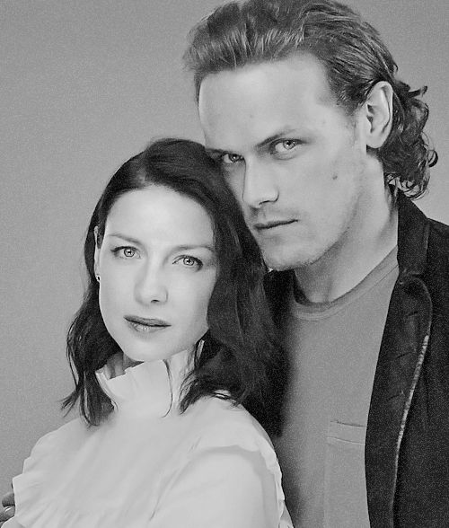 """outlander-news: """" Sam Heughan and Caitriona Balfe photographed by Kirk McKoy for LA times """""""