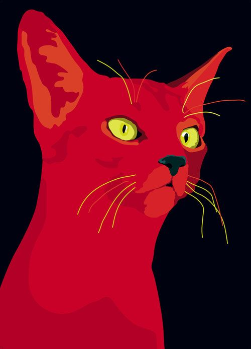 The Crimson Cat (except with blue eyes)