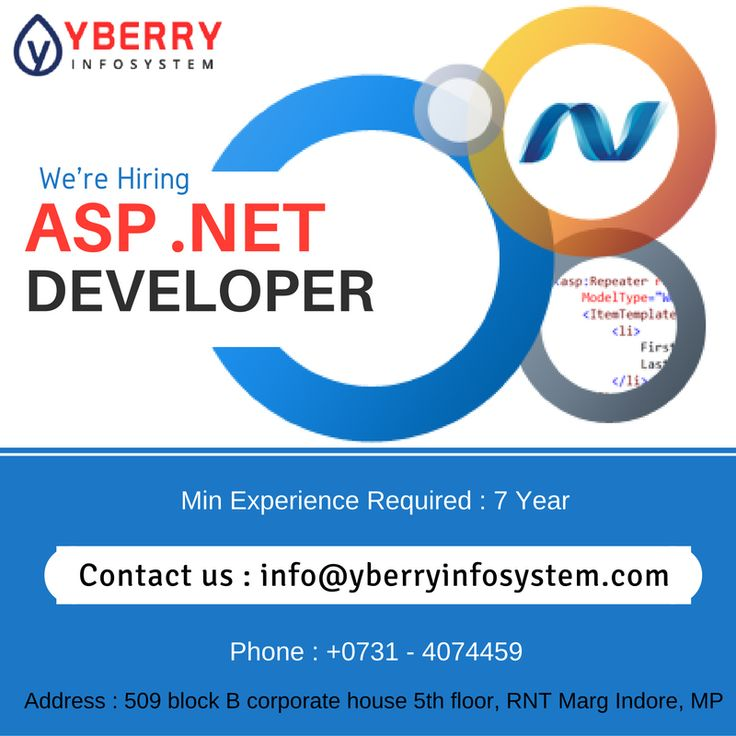 Urgent requirement for experienced Net Developer Min experience - net developer resume