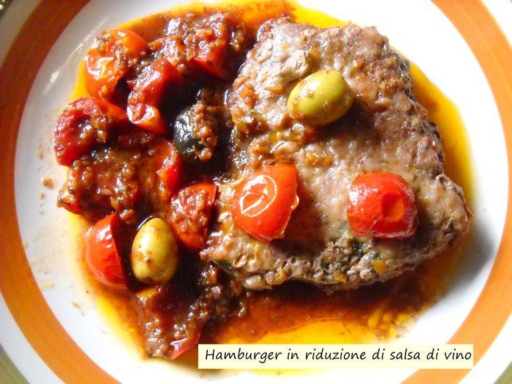 Hamburger+in+riduzione+di+salsa+di+vino