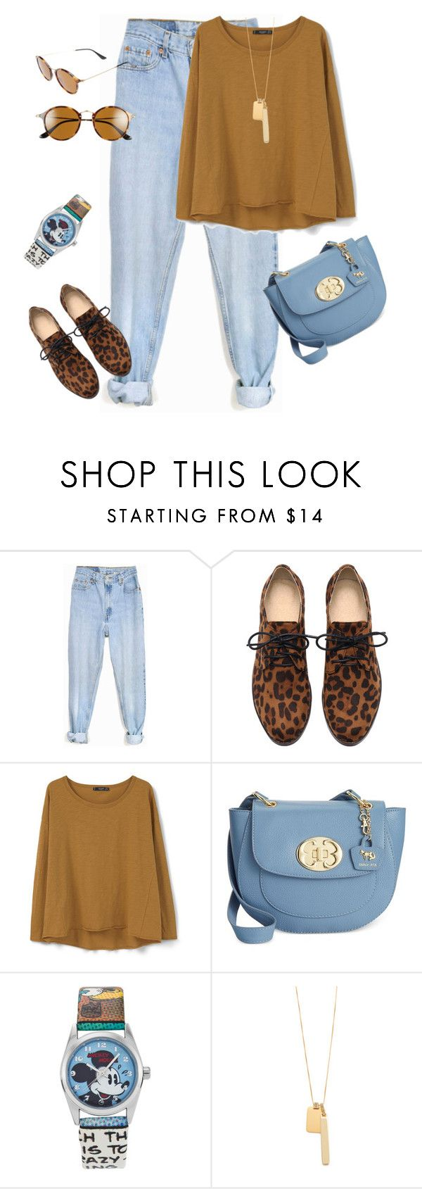 """""""outfit 3254"""" by natalyag ❤ liked on Polyvore featuring Levi's, MANGO, Emma Fox, Disney, Madewell, Ray-Ban, women's clothing, women, female and woman"""