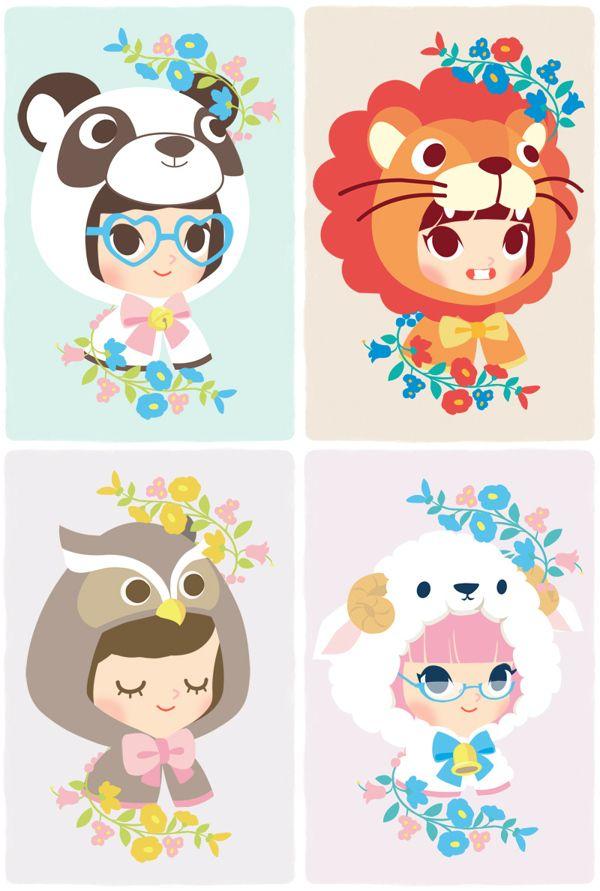 ilustraciones kawaii - Buscar con Google