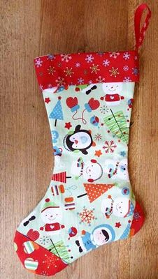 Seamzine: Season No 1. Free Sewing Pattern - Christmas Stocking -- could not get the link to work for the pattern, but like the idea