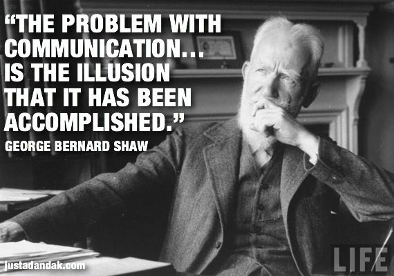 George Bernard Shaw communication quote - check out the full post: http://justadandak.com/blackbox-socialmedia-automated-communication/