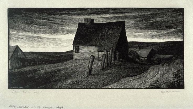 Lyme Farm, Thomas Nason, wood engraving