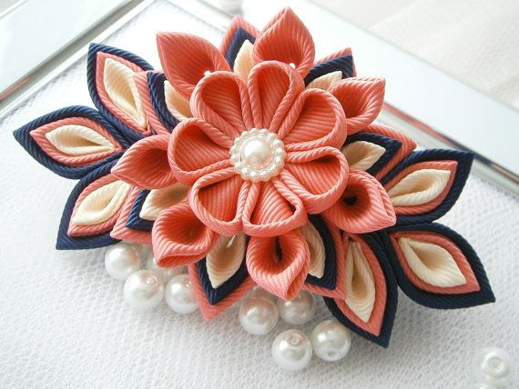 Hey, I found this really awesome Etsy listing at https://www.etsy.com/listing/181694787/handmade-kanzashi-fabric-flower
