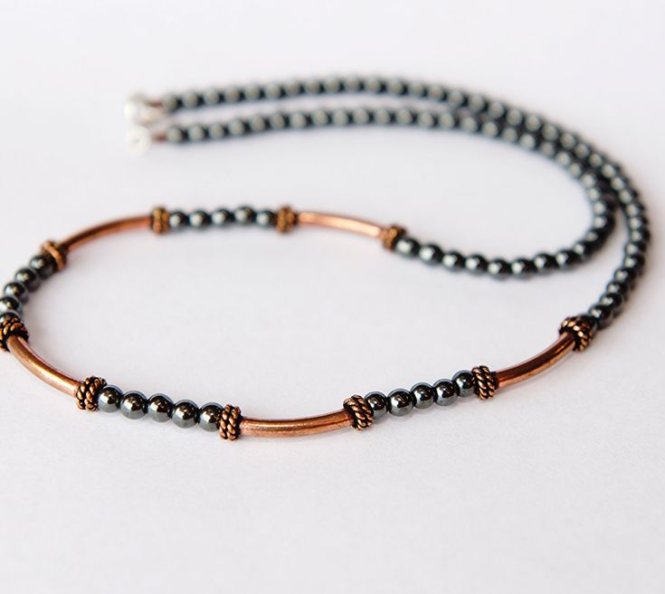 Copper Jewelry - Copper Anniversary Gift - Copper Necklace - Hematite Necklace - Copper Metal Jewelry - 7th Anniversary Gift - 22nd - SALE de simplegracesjewelry en Etsy https://www.etsy.com/es/listing/201663758/copper-jewelry-copper-anniversary-gift