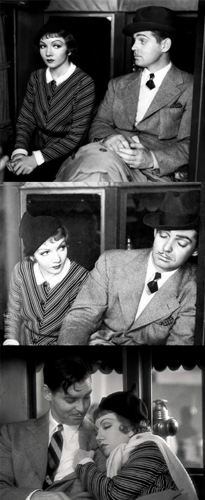"Clark Gable and Claudette Colbert, ""It Happened One Night"", 1934."