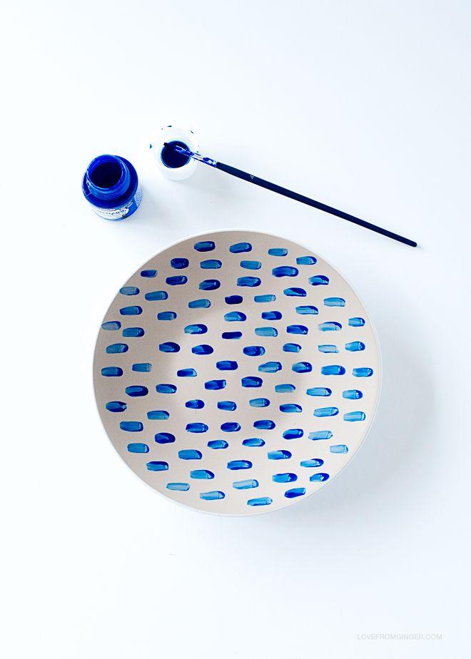 DIY Porcelain Painted Plates