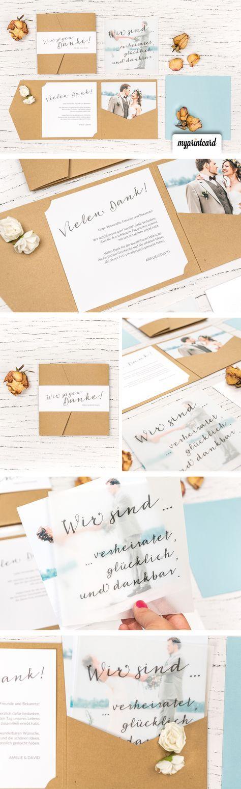 Pocketfold-Danksagungskarten – Praktisch und schön