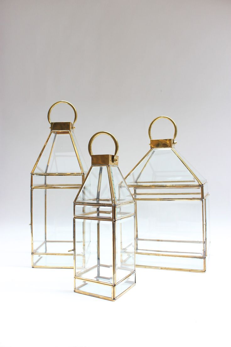 Candle lantern brass / bevelled glass http://www.orsonandblake.com.au/2-57_candleholders.htm