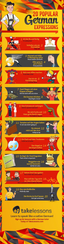 German Sayings Infographic