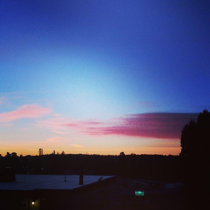 Himmel. Solnedgång