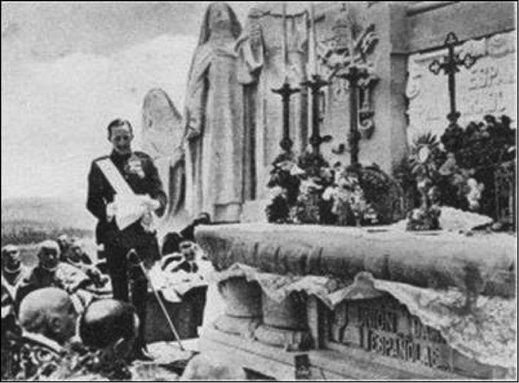 """Sagrado Corazón de Jesús: """"Reinaré en España"""", Alfonso XIII, Cerro de los Ángeles, Francesco Ragonesi, Prudencio Melo Alcalde"""