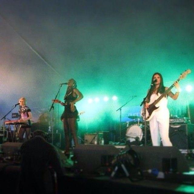 Current fave girl band Juce at Radio 1's Big Weekend last Sunday #juce #radio1 #bigweekend