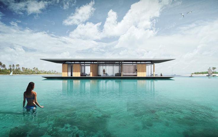 Projekt wykonany dla francuskiej firmy H2ORIZON która specjalizuje się w konstrukcjach pływających. Wizualizacje: Dymitr Malcew