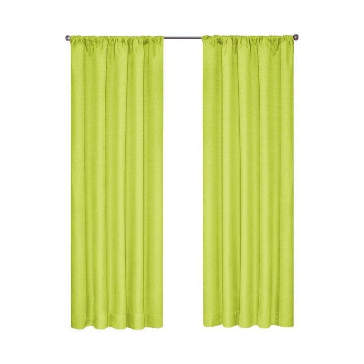 Eclipse Kendall Blackout Lime (Green) Curtain Panel, 84 In. Length