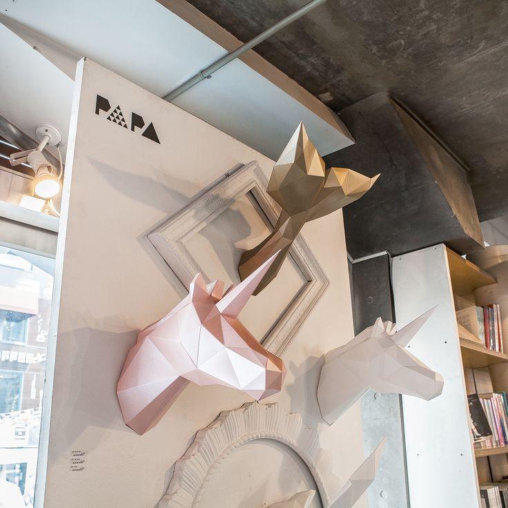 PAPA sales @ Sang Sang Madang Store in Hongdae, Seoul. |  Play Art. Polygon Art. Do Art Yourself.