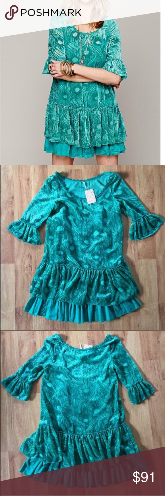 New Free People Boho Velour Dress Size XS Brand new, as seen in pictures! Tag price is $128.00. Fast same or next day shipping!📨 ⚜️I love receiving offers through the offer button!⚜️ Great condition, as seen in pictures! Fast same or next day shipping!📨 Open to offers but I don't negotiate in the comments so please use the offer button😊 Free People Dresses