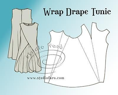 Pattern Puzzle - Wrap Drape Tunic | well-suited | Bloglovin'