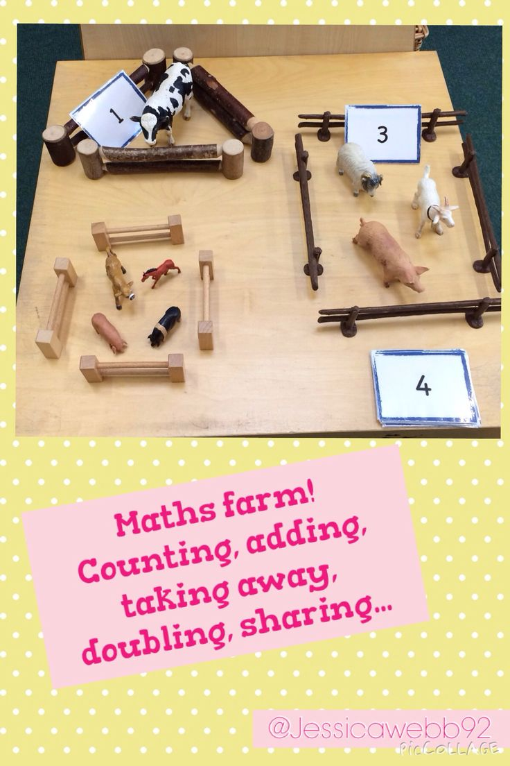 Maths farm. Can be used for counting, adding, taking away, doubling, sharing...