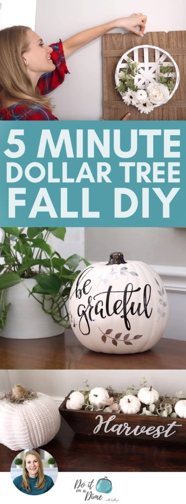 Impress everyone with these 5 MINUTE DOLLAR TREE Fall DIYS!