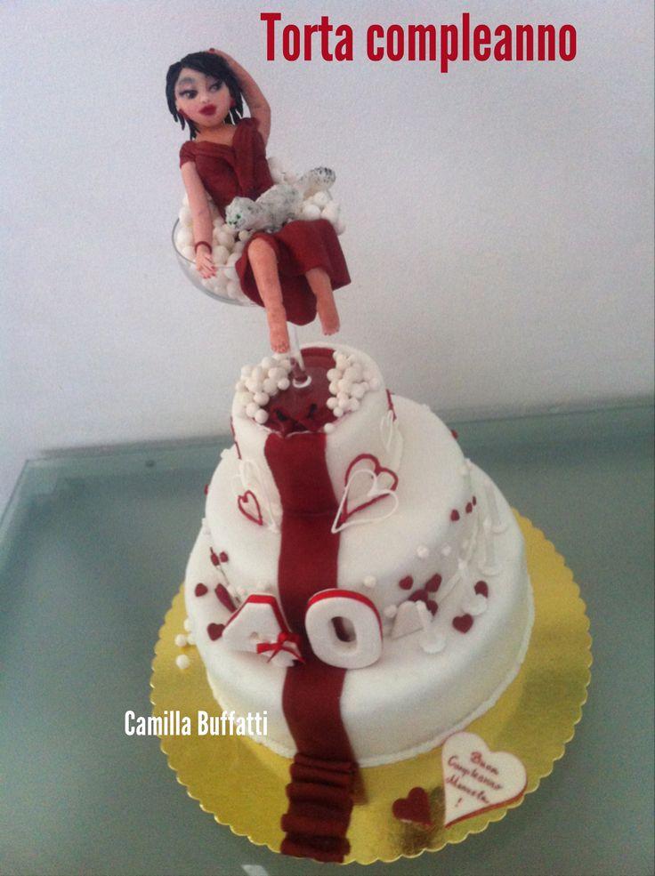 Torta Compleanno 40 anni Bolle di Champagne  - Le torte di Camilla Jesholt Buffatti