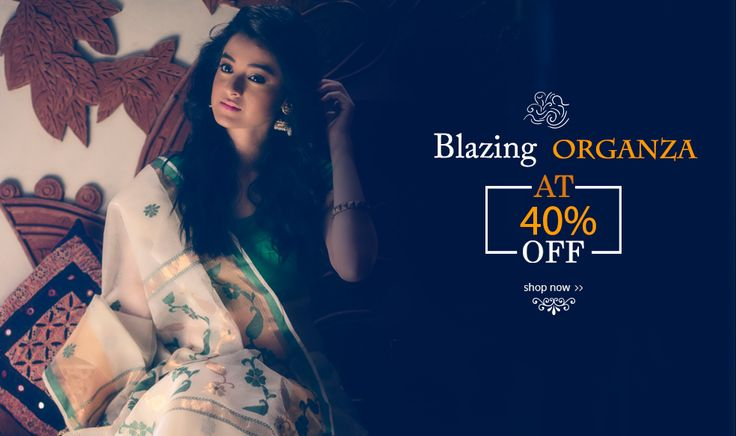 Launched at 40% OFF, #OrganzaSarees have arrived and how!