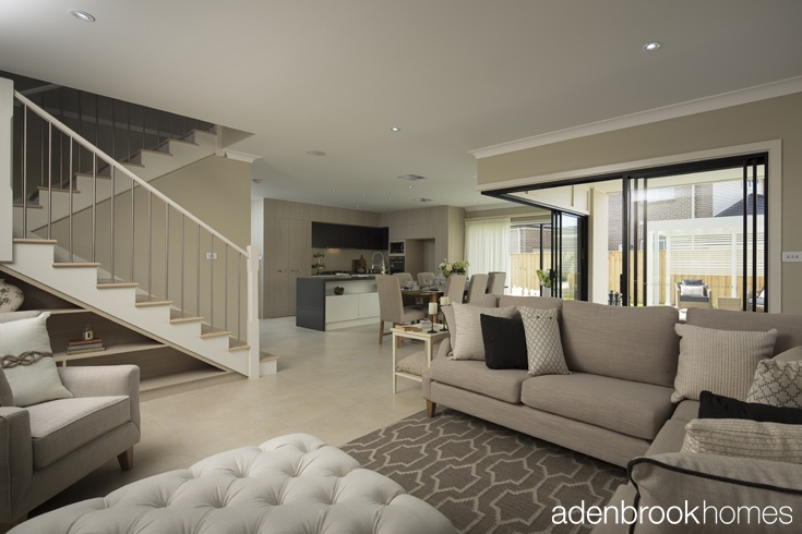 """Modern Classic"" interior designed by Windemere Interiors for Adenbrook Homes."