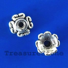 #Bead #cap, antiqued silver-finished, 7x3mm. #TreasureStone Beads Edmonton.