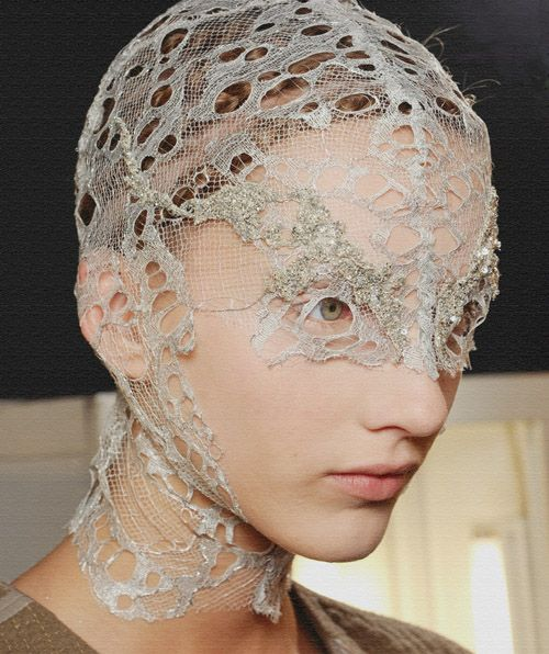 Backstage at Alexander McQueen / repinned on toby designs