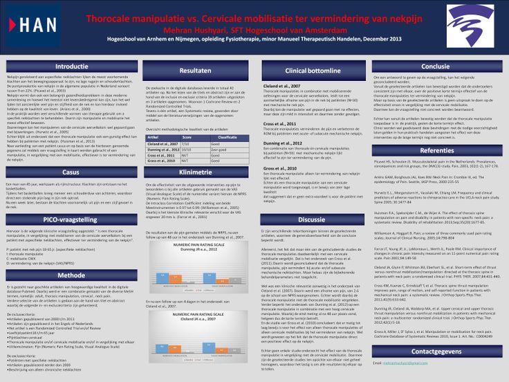 horocale manipulatie vs. Cervicale mobilisatie ter vermindering van nekpijn - A Critically Appraised Topic -  Mehran Hushyari