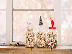 Festive topped jars in Crafts for decorating and home decor, parties and events ...CUTE!