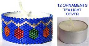 12 CHRISTMAS ORNAMENTS TEA LIGHT CANDLE COVER at Sova-Enterprises.com