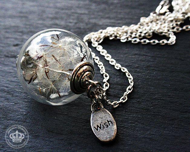 Kettingen (lang) - *Make a wish* Necklace with real Dandelions - Een uniek product van JanoschDesigns op DaWanda