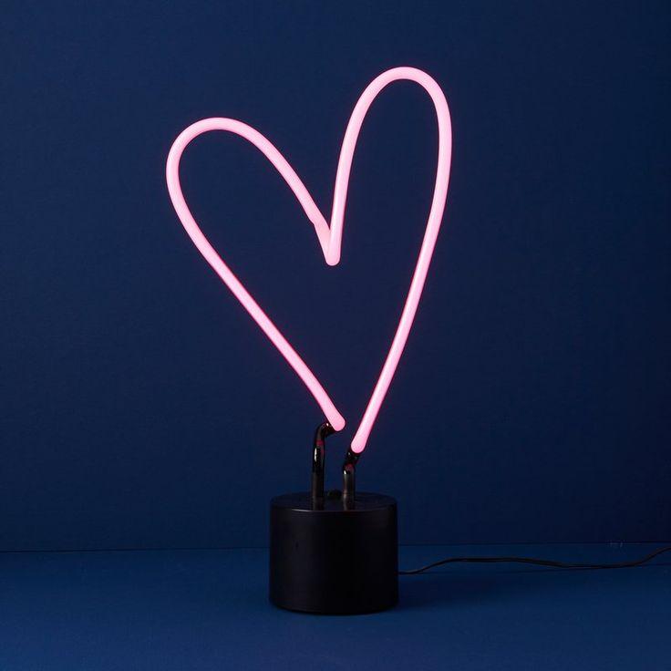 Neon Heart Table Lamp | Indigo Canada | $69.50 CND