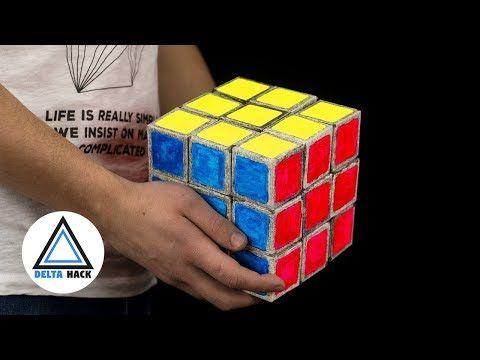 Giant Rubik S Cube From Paper Diy Youtube Com Imagens