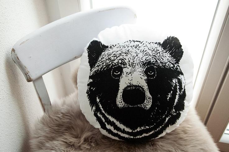"""Waldtiere: Kissen """"Bär"""", Siebdruck"""