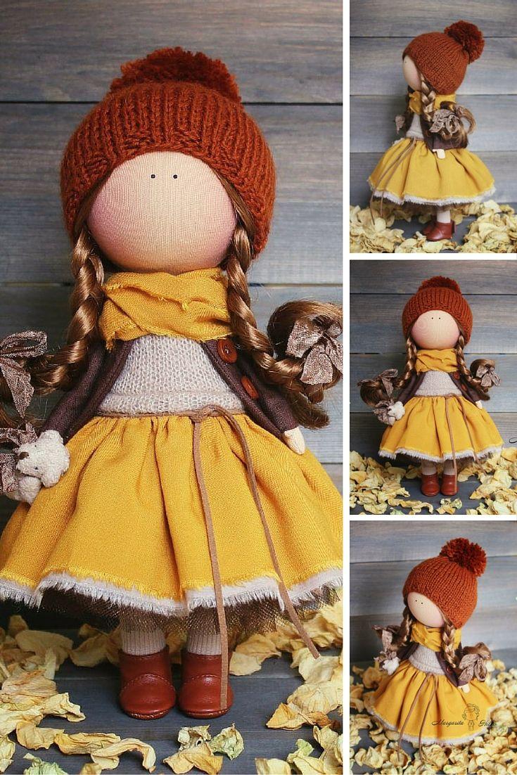 Soft doll Handmade Tilda doll Cloth doll Fabric doll Interior doll unique magic doll by Master Margarita Hilko