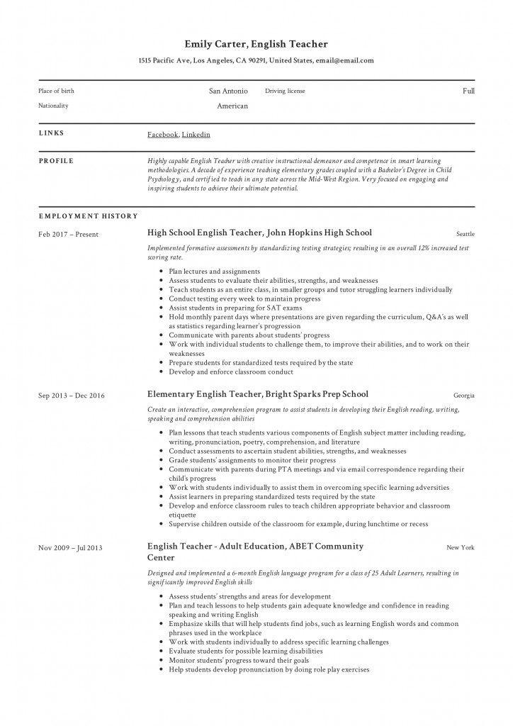 47 best resume templates hong kong 2021