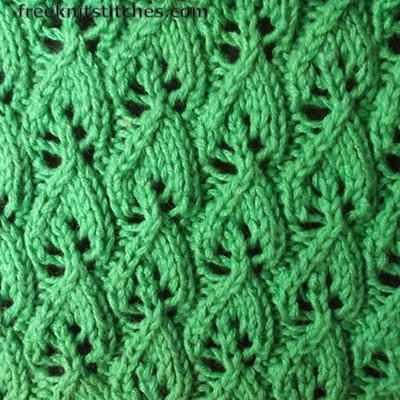 Wood Sorrel knitting stitches
