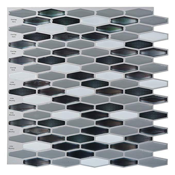"""12/""""x12/"""" Art3d Peel and Stick Backsplash Tiles Wall Stickers"""