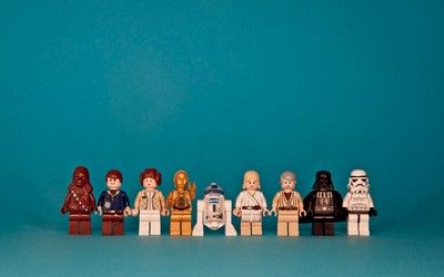 Star Wars Lego figurines wallpaper