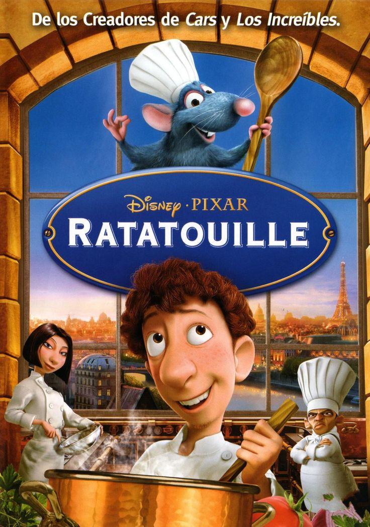 ratatouille-film d'animazione del 2007 -Remy ha un sogno, quello di diventare il primo topo chef di un ristorante francese a 5 stelle. Ma come entrare nel gotha della cucina, quando i topi sono sinonimo di malattie e scarsa igiene? Con l'aiuto di Linguini, un giovanissimo cuoco sull'orlo del licenziamento.